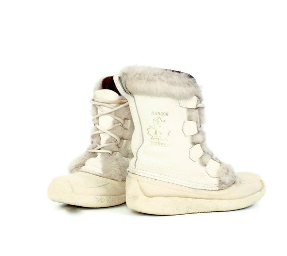 Vintage Sorel Nanook Boots In White Womens 7