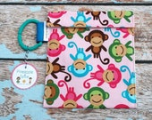 Monkey Reusable Sandwich bag -snack pouch -BPA free   As SEEN in Pacific Edge Magazine