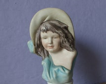 Vintage Ethan Allen figurine, S. Martini artist signed, Italian porcelain, southern bell, shabby chic cottage decor,