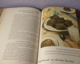 vintage 1930's General Foods All About Home Baking cookbook, 1933 copyright, antique cookbook, photographs, wedding gift for bride