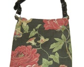 Floral print, durable purse with adjustable handle