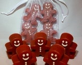 Set of 4 Mini Gingerbread Men scented in Hansel & Gretel's House Stocking Stuffers. Choose your own scent. By Indigo Ambiance