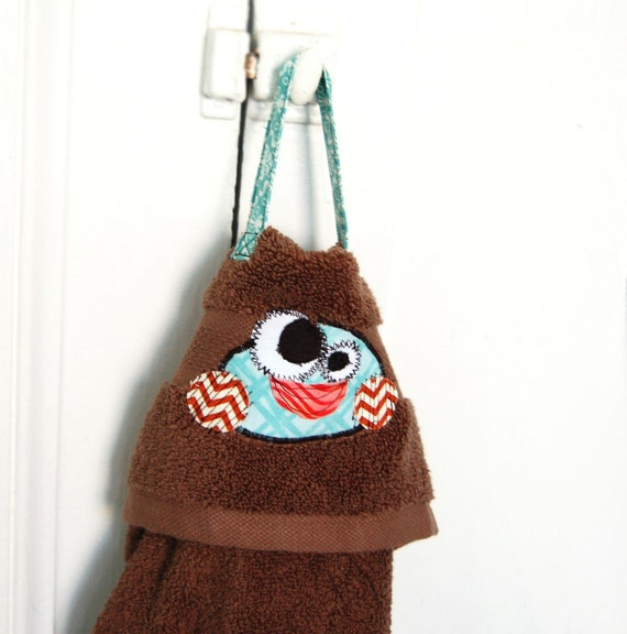 SALE Brown Hanging Muddy Paw Wiper Towel Dog Accessory for All Sizes by Fugly Friends