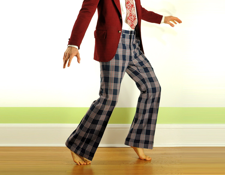 70s plaid pants - Pi Pants