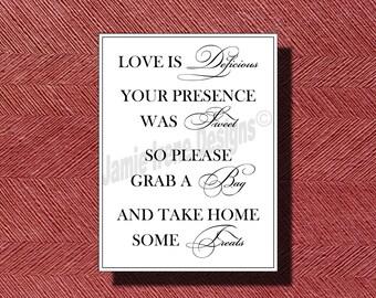 Custom Designed Wedding Candy Bar/Buffet Sign/Poster DIY Print-Ready