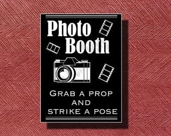 Custom Printable Wedding Photo Booth Sign