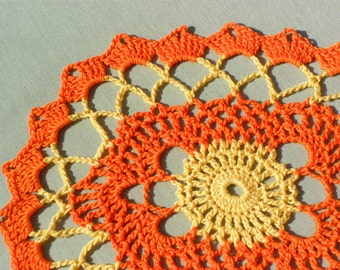 Autumn Path Crocheted Doily