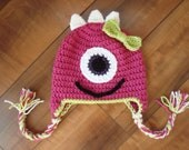Girly Monster Hat - baby to adult sizes - you choose color