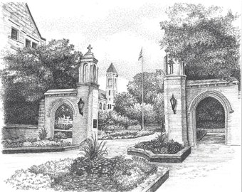 Sample Gates, Indiana University, Bloomington, Indiana,Fine Art Print