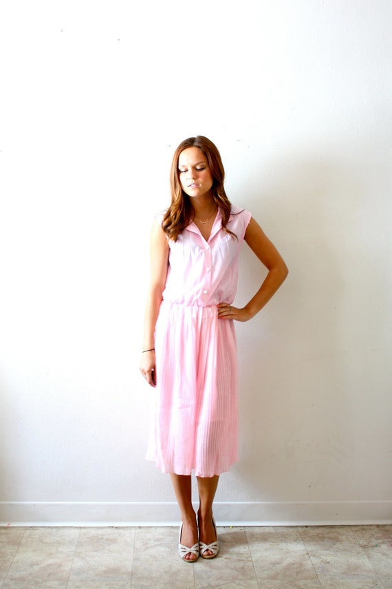 Vintage light pink maxi dress