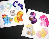 My Little Pony: Friendship is Magic Chibi Pony Sticker Set