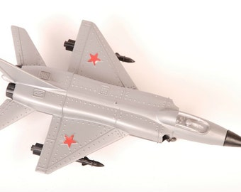 1990s Vintage Soviet Russian Army Collectible Military Fighter Model Toy