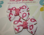 Boutique Awareness Hair Bow Pair