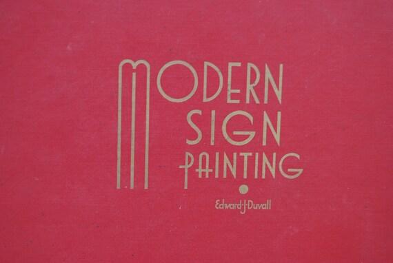 Modern Sign Painting Edward J Duvall 1959