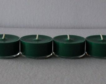 Mistletoe - Set of 12 Green Soy Tea Lights