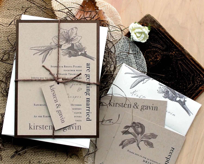 Rustic Amp Chic Wedding Invitations Farm Wedding Country Wedding Invites Rustic Magnolia