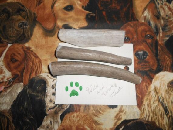 3 Small Deer Antler Dog Chews (Lot 927)