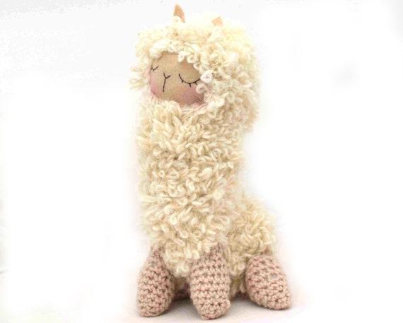 Amigurumi Alpaca : llama lama plush amigurumi felt alpaca doll stuffed animal