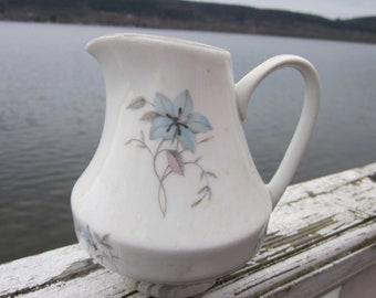 pitcher czechoslovakia,floral dainty, milk pitcher, cream pitcher