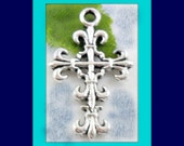 Antique Silver Filigree Crosses