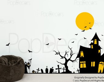 Halloween Decals - Holiday Vinyl Wall Art Decor Stickers by Pop Decors