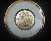 Vintage Gold Trimmed ART of CHOKIN PLATE