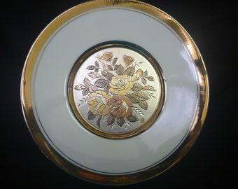 Vintage Gold Trimmed ART of CHOKIN PLATE