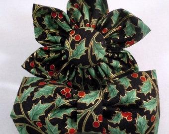 Christmas Dog Flower or Bow Tie -Dog Flower, Dog Bow Tie, Cat Flower, Cat Bow Tie -  Holiday Serenade