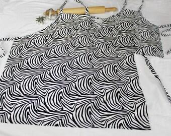Zebra Mother Daughter Aprons