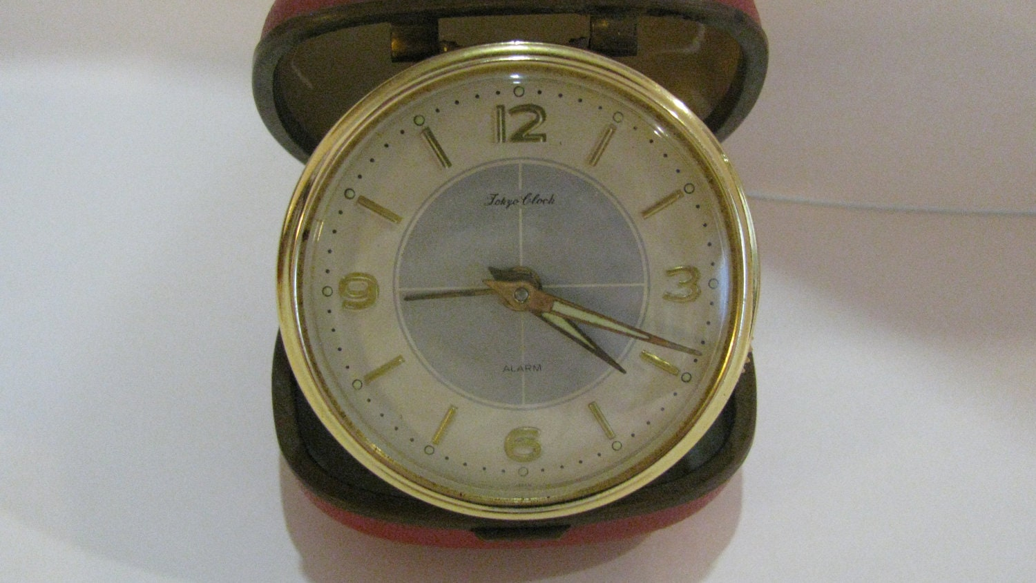 Vintage Wind-Up Travel Alarm Clock Toyko Clock by fromanotherday