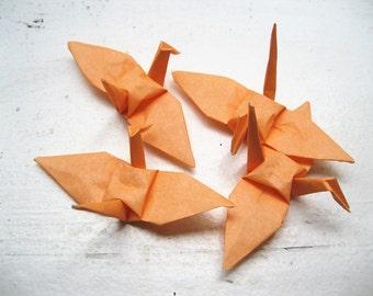 "100 3"" peach cream apricot small origami cranes paper cranes wedding birthday party decoration"
