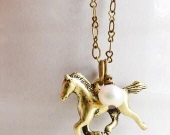 Horse Necklace,Running Horse,Stallion Charm Jewelry,Rocking Horse Jewelry,Animal Wildlife Jewelry,Carousel Horse,Fashion, Gangnam Dance