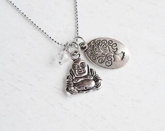Laughing Buddha, Tree of Life Necklace, Karma, Good Luck Jewelry, Zen Earthy Spiritual Gift, Smiling Buddha, Charm Necklace,Silver Buddha
