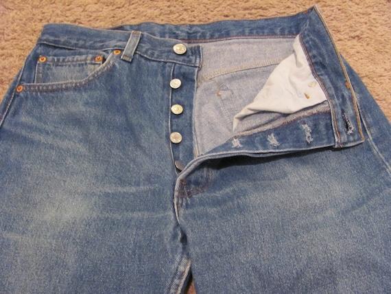Vintage Retro Levis 501 Jeans - 32 x 34 Long Nicely Broken In
