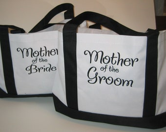 2 Personalized Tote Bags Mother of the Bride and Mother of the Groom