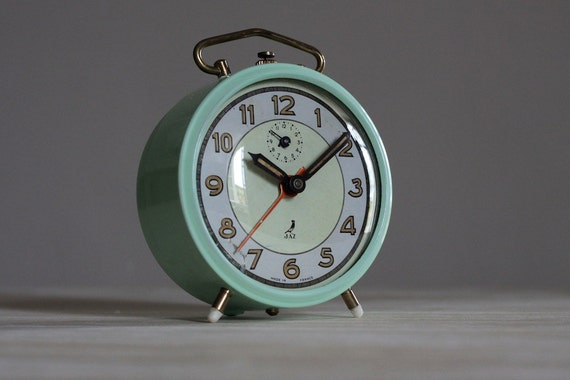 Cute Vintage French Jaz  Alarm Clock  Loft Decor