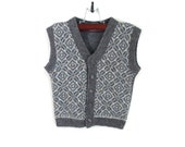 Knitted Baby Vest - Gray, 2 - 3 years