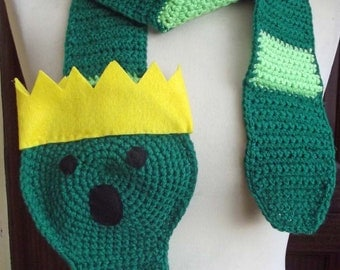 Super Long Crochet Worm King from Adventure Time Scarf - Over 8Ft  long - Made to Order