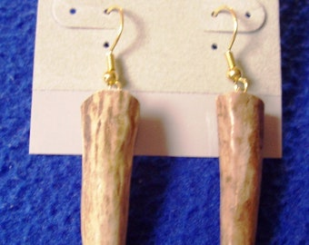 Deer Antler Tip Earrings