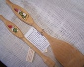 Wood Spatula and Baisting Brush, folk figures