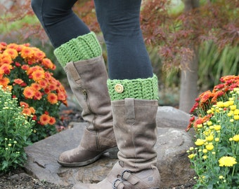 Wool Boot Cuffs, Boot Toppers, Boot Socks, Leg Warmers, Ankle Warmers, Textured and Stretchy