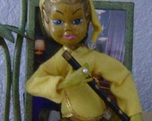 vintage Indonesian Boy playing the flute FREE SHIPPING