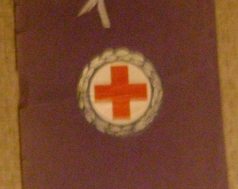"Red Cross ""Gray Ladies""  training booklet from the 40's"