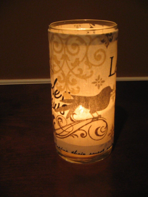 Elegant Damask Bird Decorative Candle Holder by KBDecorDesigns