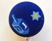 Dreidel Badge Reel - Badge Reel -Hanukkah Badge Holder - Retractable Badge Reel - Nurse Gift - Teacher Gift - Fabric Badge Reel