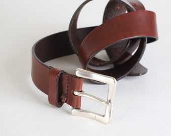Women's Vintage Brown Leather Belt