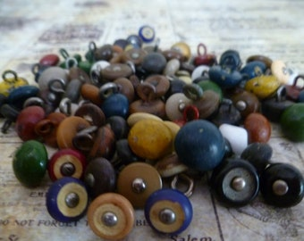 10 Vintage Shoe Button Assortment