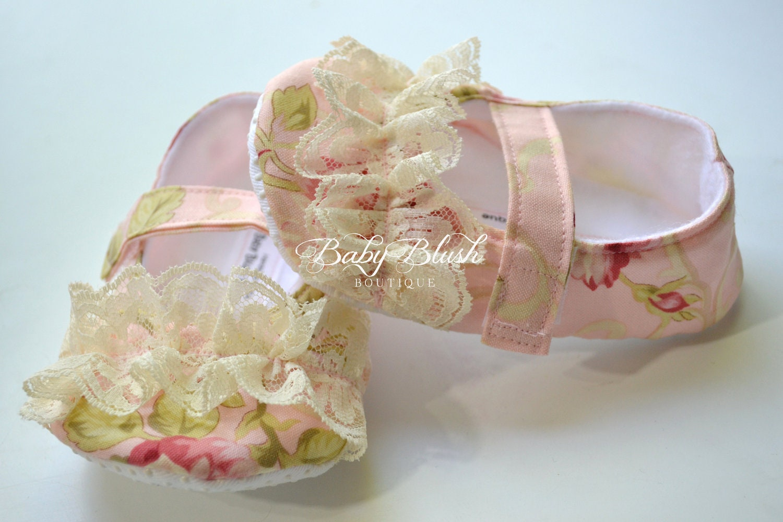 Pink Lace Shabby Ballarina Shoes