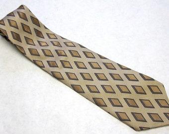 Gold Black White Necktie Silk Halberstadts Neck Tie