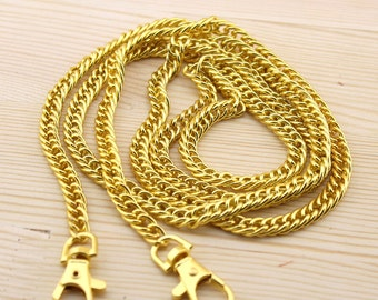 120cm(47.24inch) about 8mm(0.31inch) thick Golden Chain Links purse links bag chain purse chain MLg-120